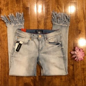 BOOMBOOM frayed jeans skinny stretch denim size 9